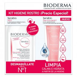 Bioderma DermaBox Sensibio Pack H2O 500 ml + Gel Moussant 45 ml