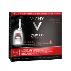 Vichy Dercos Aminexil Clinical 5 Ampolletas Hombre 21 monodosis