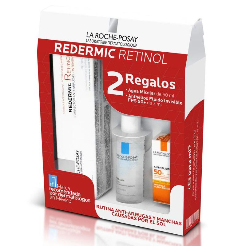 La Roche Posay Pack Redermic Retinol 30Ml + Anthelios Fluido 3Ml + Agua Micelar 50Ml